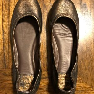 Bronze Tory Burch Flats
